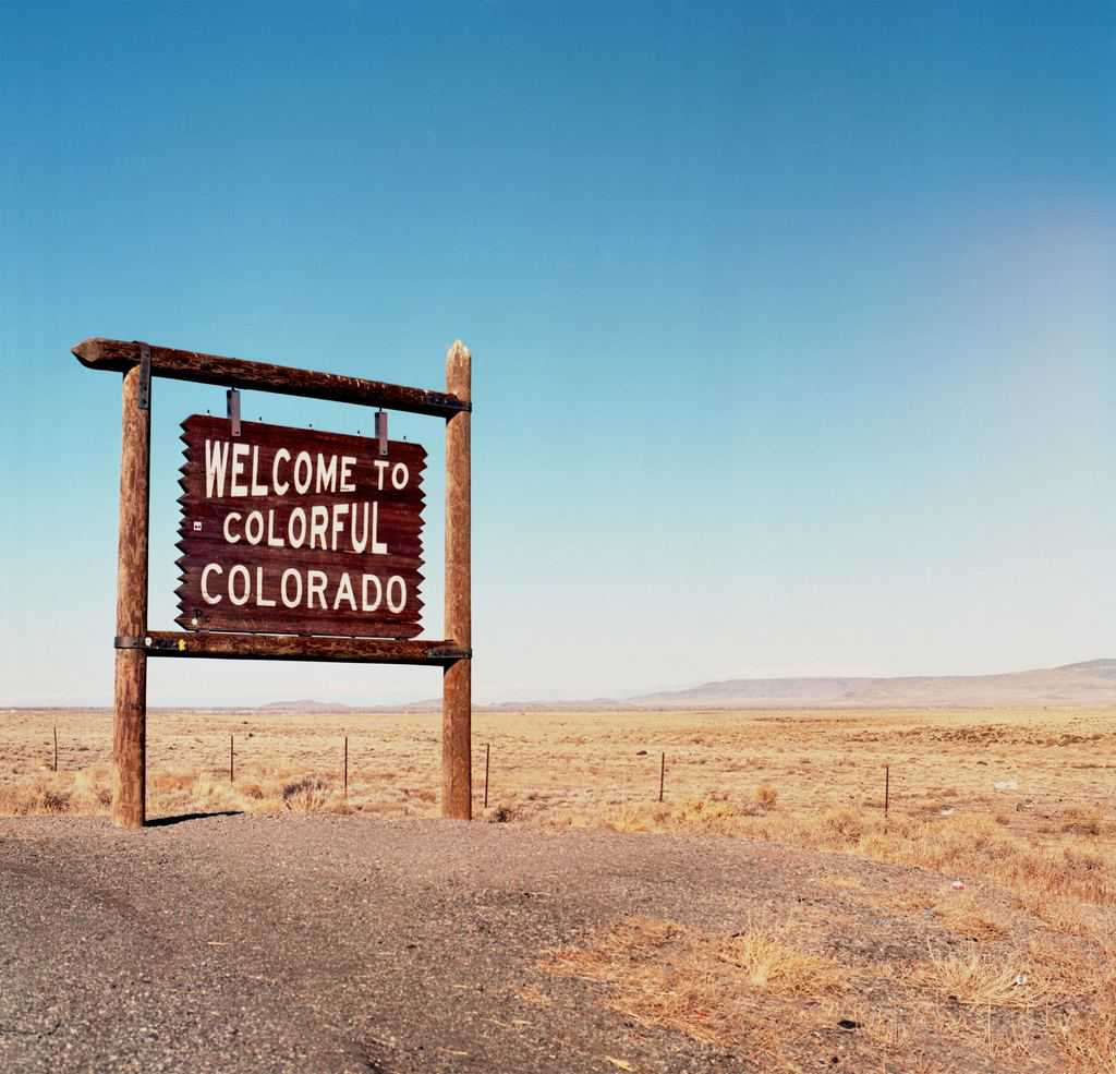 Welcome To Colorado Sign From Highway