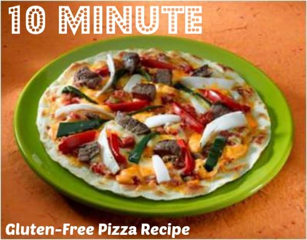 Gluten Free Pizza in 10 minutes