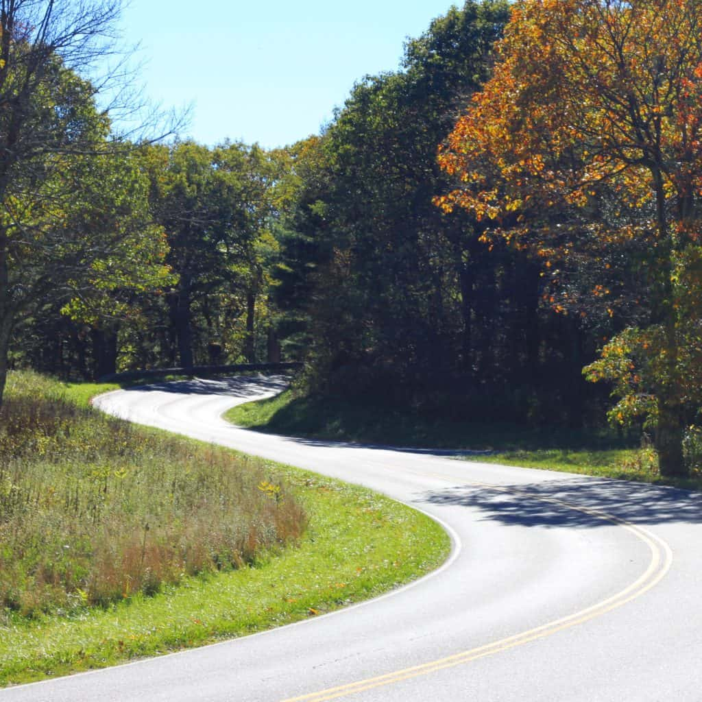 Winding road on Skyline Drive