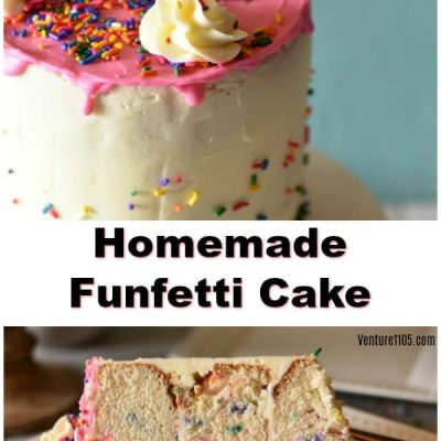 Homemade 3-Layer Funfetti Cake – Elegant and Perfect for All Occassions