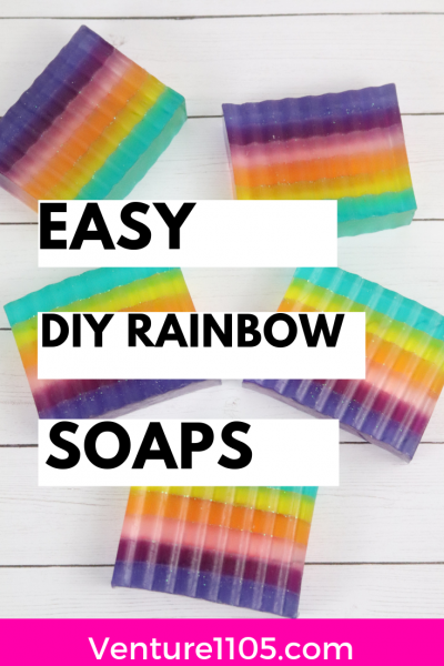Easy DIY Rainbow Soaps