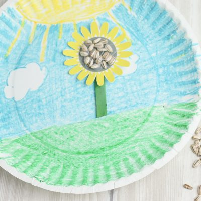 Growing Sunflower – Easy Paper Plate Craft For Preschoolers