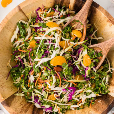 Mandarin Kale Asian Salad with Toasted Sesame Seed Dressing